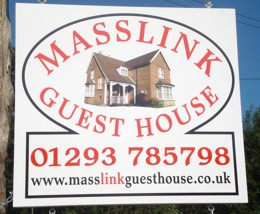 Masslink Guest House sign